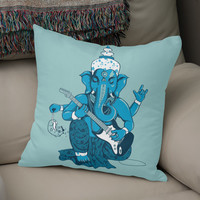 «Ganesha rocks!», Numbered Edition Coussin by Savousepate - From 25€ - Curioos
