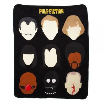 Pulp Fiction Character Heads Throw Blanket