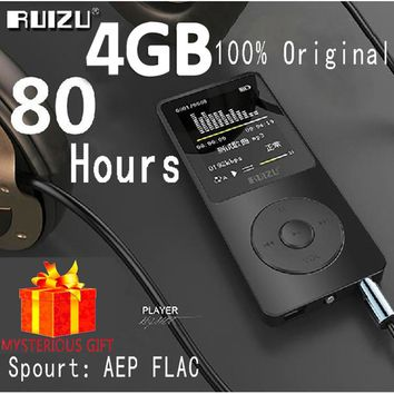 Ruizu X02 Portable Mp-3 Hi-Fi Digital Sport Flac Hifi Audio Mp 3 Mini Mp3 Player Music FM Radio Screen Lossless Running Walkman