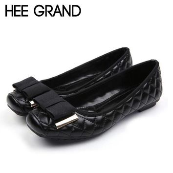 HEE GRAND 2018 New Arrival Women Flats Bowknot Decoration Women Causal Fashion Oxfords Light Wearing Shoes XWD6718