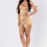 Cut The Cake Dress - Gold