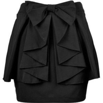 BOW WAIST RUFFLE SKIRT
