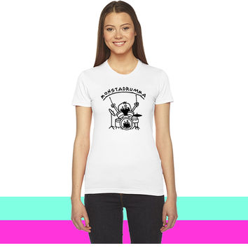 Monster Drummer_ women T-shirt