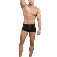 Bamboo Low Rise Pouch Enhancer Short Black Md