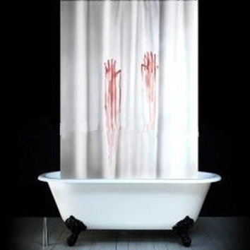 Bloody Horror Shower Curtain 180*180cm Polyester Waterproof/Mouldproof Bathing Curtain & Shower Screen Dossal
