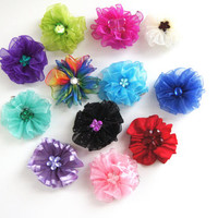 Colorful Dog Hair Bows Set of 8 Mix and Match