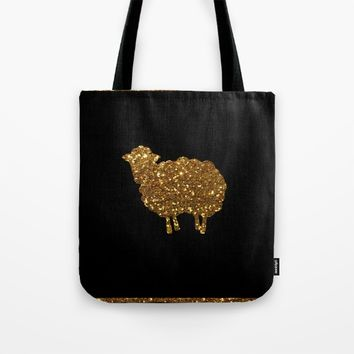 Golden sheep you are special  Tote Bag by Xiari