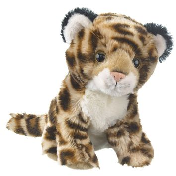 "8"" Jaguar Cub Small Stuffed Animals Floppy Zoo Conservation Collection"