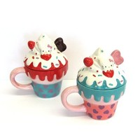 Sanrio Hello Kitty Design Tea Cup with Lid set for 2