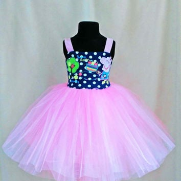 Gentle Pink Tutu Peppa Pig Dress, Peppa Pig Birthday Dress, Peppa Pig Clothes, Peppa Outfit