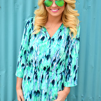 Lilly Feather Romper- Mojito