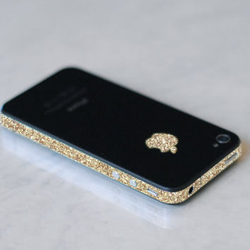 iPhone 4S Antenna Wrap Sparkling Gold by kellokult on Etsy