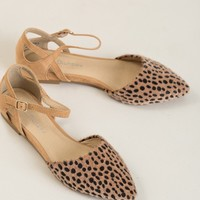Helena Cheetah D'orsay Flat by Chinese Laundry