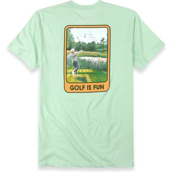 Golf Is Fun Short Sleeve Pocket Tee