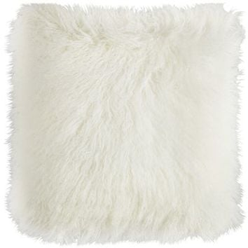 Faux Fur Mongolian Ivory Pillow