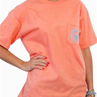Southern Shirt Company Logo T-Shirt in Georgia Peach