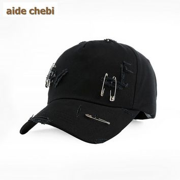 [aide chebi] needle Brand Baseball Cap Men Snapback Cap Hat Women Holes Baseball Hat For Men Casquette Bone Sports Cap Sun Hat