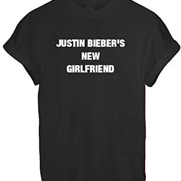 MRS JUSTIN BIEBER NEW GIRLFRIEND BELIEBER WOMEN UNISEX T SHIRT TOP TEE NEW - Black