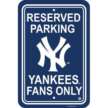 New York Yankees MLB Plastic Parking Sign