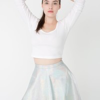 rsalh302h - Hologram Leather Circle Skirt