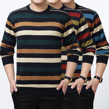 Summer Men's Fashion Round-neck Pullover Knit Tops Sweater [6543991363]