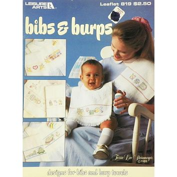 Bibs & Burps - Counted Cross Stitch Leaflet - Leisure Arts