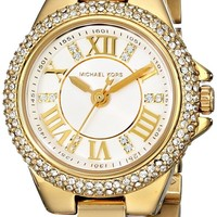 Michael Kors Petite Camille Embellished Gold-Tone Stainless Steel Women's watch #MK3252