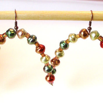 Unusual earrings dangle beaded