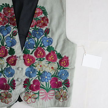 embroidered floral vest | guatemalan clothing | embroidered vest