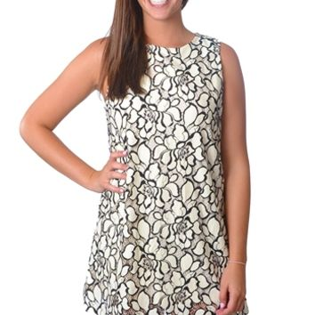 Floral Lace Dress - Ivory
