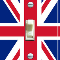 BRITISH Flag Switch Plate single FREE by VintageSwitchPlates