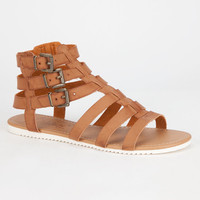 Celebrity Nyc Olive Womens Sandals Chestnut  In Sizes