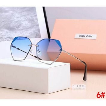 Miu Miu Fashionable Women Casual Summer Shades Eyeglasses Glasses Sunglasses 6#
