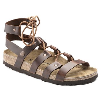 Women's Cleo Papillio Natural Leather Sandal in Cognac by Birkenstock