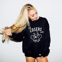 Funny Graphic The Losers Club Sweatshirt retro vintage Tumblr Crewneck Unisex Letter aesthetic Hoodies 1958 Harajuku Jumper Tops