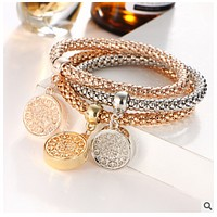Xiangbala bracelet life tree crystal encrusted pendant popcorn three colors a stretch bracelet