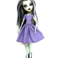 Handmade Monster High Dress Clothes Cap Sleeve Lila