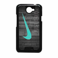Nike Mint Just Do It Wooden HTC One X Case