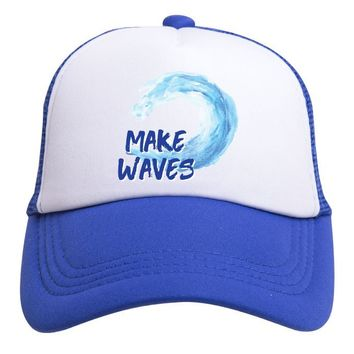 Make Waves Trucker Hat (Toddler) by Tiny Trucker Co.