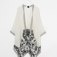 ASOS White Sheer Embroidered Cape