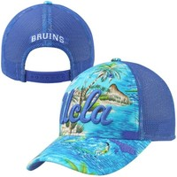 adidas UCLA Bruins Hawaiian Print Trucker Adjustable Hat - True Blue
