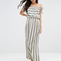 ASOS Natural Stripe Maxi Dress at asos.com