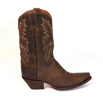 Dan Post Cecilia All Over Bay Apache - Distressed Leather