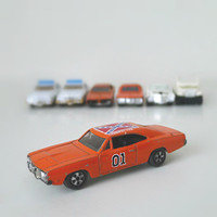 Dukes of Hazzard Toy Cars - Vintage 1980s ERTL - General E. Lee, Daisy Duke Jeep, More