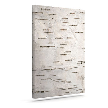 "Susan Sanders ""Painted Tree"" White Rustic Canvas Art"
