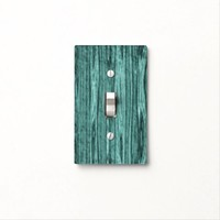 Green Faux Barn Wood Light Switch Cover
