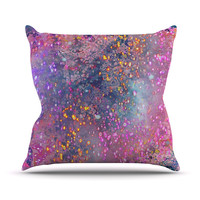 """Marianna Tankelevich """"Pink Universe"""" Pink Purple Outdoor Throw Pillow"""