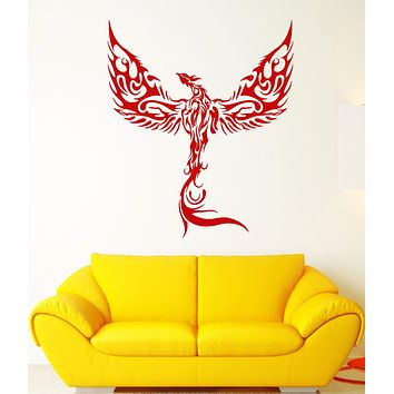 Vinyl Wall Decal Phoenix Fantasy Bird Fantastic Beast Forks Of Flame Stickers (2175ig)