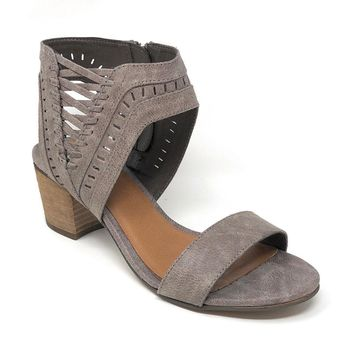 15ceed83b8f Not Rated Vienna Grey Heeled Sandals