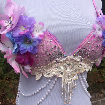 Orchid Fantasy Bra // Rave Bra // Rave Outfit- 32B/34A